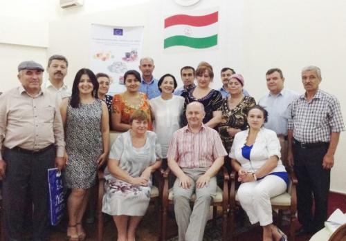 5-я сессия тренингов по пищевой безопасности НАССР и маркетингу,(учебная поездка в Курган тюбе и Шахритуз) 06-08- июля 2015г.
